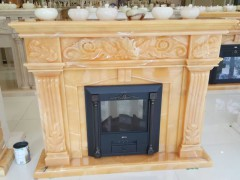onyx carving fireplace
